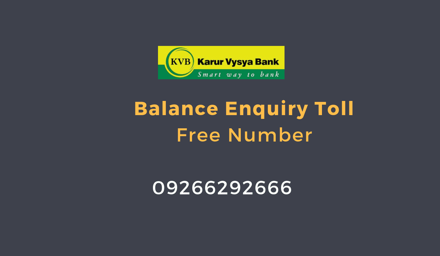 karur vysya bank balance enquiry toll free number