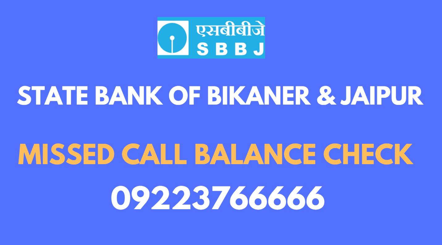 sbbj bank balance check toll free number